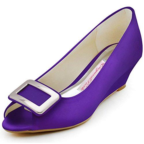 Elegantpark, Scarpe peep toe donna Viola (viola)