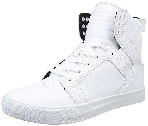 Supra - Skytop, Chaussures Homme Weiß (white / Croc - White Wcr)