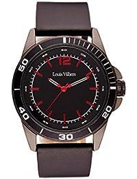 Reloj hombre Louis Villiers acero negro 45 mm lv1004