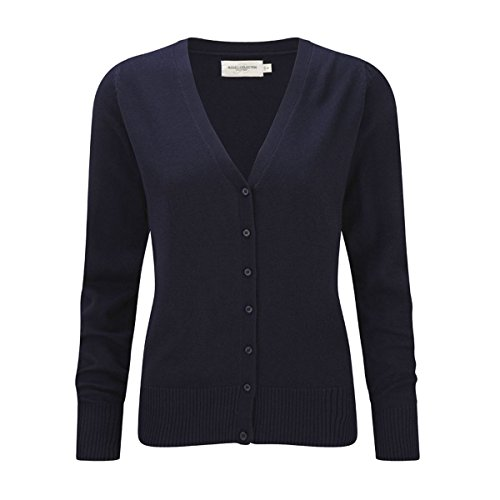 Russell Collection Damen Strickjacke, Kein Muster * Navy