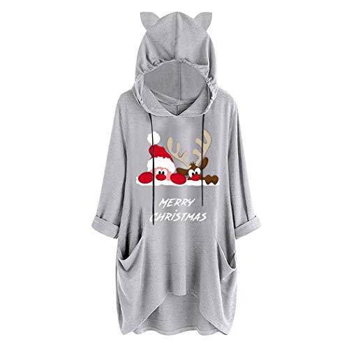 Camisetas navideñas Anstsy con capucha (4 colores) por 15,99€ usando el #código: PNUZM8P4