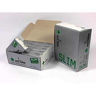 1000 ActiTube SLIM Aktivkohlefilter 20 x 50er Box Display 7mm Eindrehfilter in Acti Tube Tune Filter Tips Filtertips Aktivkohle by actiTube