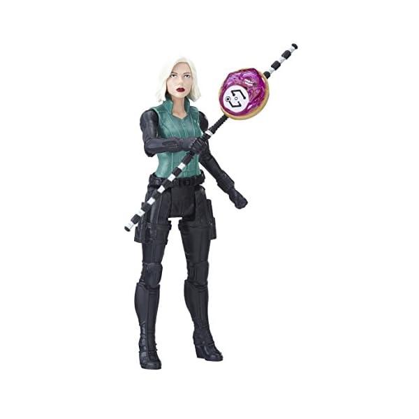 Marvel- Figura Infinity War, Black Widow con Gema y Accesorio (Hasbro E1411EU4) 1