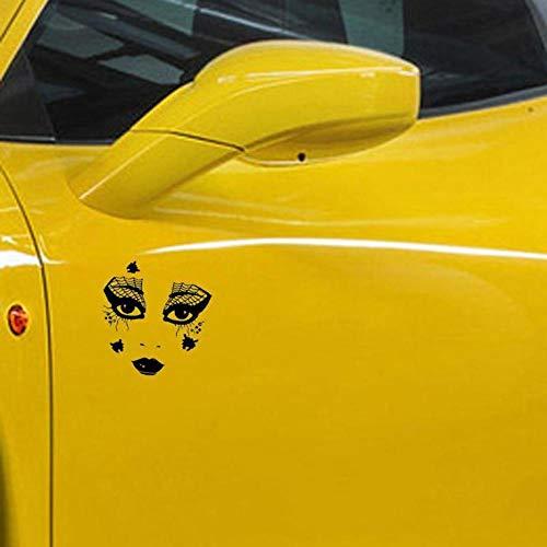 Genie Schwarz Kostüm - Stukk Sticker Spinnennetz Morris Kostüm Gesicht Kunst Auto Fenster Stoßstange Vinyl Aufkleber 16,5 cm x 18,9 cm - Schwarz