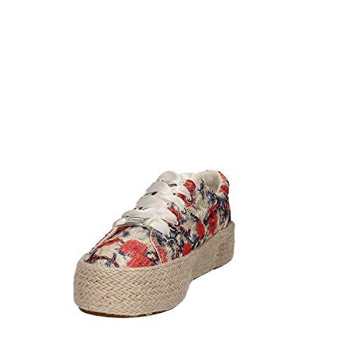 Cafe Noir Femme Sneakers Db911 35/41 Gymnastique À Lacets 349 Multi Rosso
