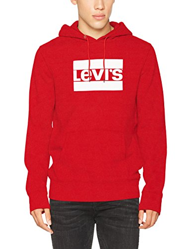 Levi's Herren  Graphic Hoodie Kapuzenpullover, Rot (OLYMPIC pull Over Chinese Red 0026), Medium