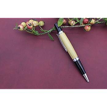 Edler Handgedrechselter Dreh Kugelschreiber aus Holz Tulpe Absolutes Unikat