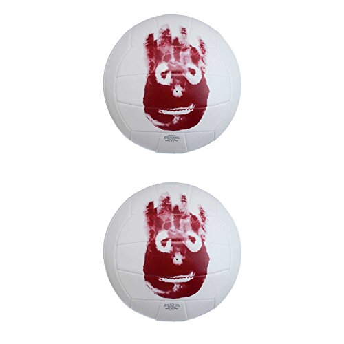 Wilson WTH4615 Replica Cast Away Movie Volleyball, 2er Pack