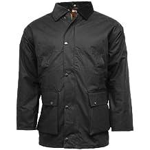 British para hombre Premium no acolchado chaqueta impermeable de cera/perchero de pared de by consolas de