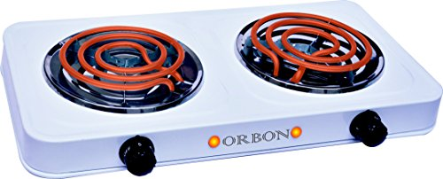 Orbon Double 1250w+1250wg Coil Induction Cooktop / Induction Cookers / Handy G Coil Cooktop ( Huge Diwali Discount & Free Shipping )