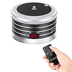 Neewer Panorama Stativkopf mit variabler Geschwindigkeit und Drehrichtung,integrierter wiederaufladbarer Batterie und Fernbedienung für Smartphone DSLR Kamera GoPro