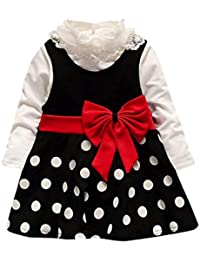 0-24Monaten Bekleidung Longra Baby M/ädchen Sommer Tr/ägerkleid Infant Outfit r/ückenfreie Prinzessin Kleid Kurze Kleiderset Sommer Kleider