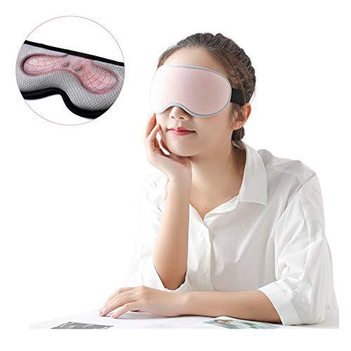 JANEFLY Schlafmaske Für Damen Und Herren, Erwärmen Sie Die 3D-Augenmaske Zum Schlafen, USB-Magnet-kompresse, Wasserdicht, Eye Shade-Cover, Reisen/Nickerchen/Flugzeug/Nachtschlaf,Pink