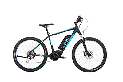"Fischer E-Bike Mountain EM 1864, Schwarz, 27,5"", RH 48 cm, Mittelmotor 48 V/557 Wh, Shimano XT-Schaltwerk, LCD-Display inkl. Navi-App, Suntour XCM 100mm Lockout Federung"