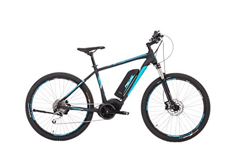 "Fischer E-Bike Mountain EM 1864 (2019), schwarz matt, 27,5"", RH 48 cm, Mittelmotor 80 Nm, 48 Volt Akku, 557 Wh"