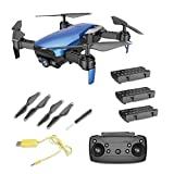 Happy Event X12 480P Kamera WiFi FPV Drone Höhe Halten RC Quadcopter Mit DREI Batterie (blau)