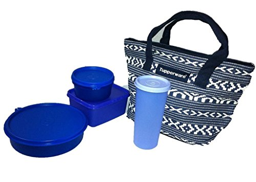 Tupperware New Best Trendy Stylo Lunch Set With Bag  available at amazon for Rs.1055