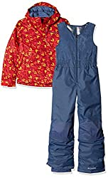 Columbia Sportswear Kids Buga Set Ski Jacket, Red Spark Arrow Print, Small