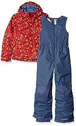 Columbia Sportswear Kids Buga Set Ski Jacket, Red Spark Arrow Print, Small