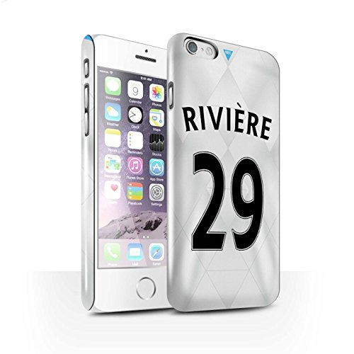 Offiziell Newcastle United FC Hülle / Glanz Snap-On Case für Apple iPhone 6 / Coloccini Muster / NUFC Trikot Away 15/16 Kollektion Rivière