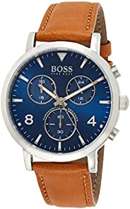 Hugo Boss Mens Quartz Watch, Chronograph Display and Leather Strap 1513689