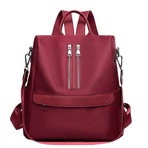 Moonuy Damen Rucksack Tasche Mode Oxford Tuch Wilde große kapazität Rucksack studententasche innenschlitz Tasche Reisetasche (Japanische Künstliche Pflanze)