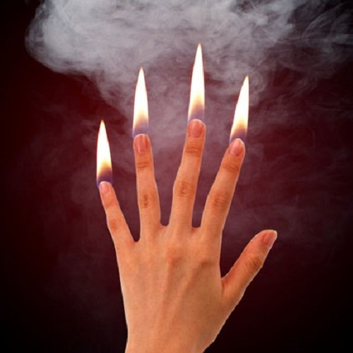 MilesMagic Magier Feuer Flammen an Fingerspitzen Metall Gimmick Trick Prop für echte Street Stage Zaubertricks (Flash-Papier Nicht erforderlich)