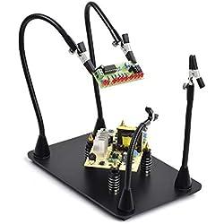 Support magnétique à souder à la main, troisième outil à souder, 4 piliers PCB avec bras flexible établi pour la réparation de bijoux électroniques