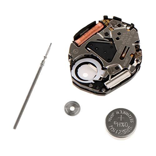 P Prettyia VX51 Reemplazo de Mecanismo de Reloj de Cuarzo de 3 Manillas, Herramienta de Barra de Reemplazo para Reloj de Pulsera