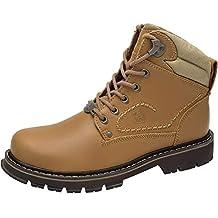 26e0747f1e217 CAMEL CROWN Hombre Botas Chelsea de Cuero Zapatos para Hombre Botas  Militares de Adulto