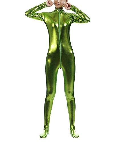 Ganzkörperanzug Anzug Suit Kostüm Shiny Ganzkörperanzug Kostüm Gras Grün ()