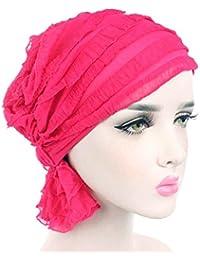 Kangcheng para Mujer para Mujer con Volantes Chemo Hat Beanie Bufanda  Turban Headwear Turbante musulmán Headwear 0be78599970
