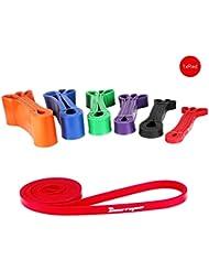 BESTOPE® Bandas de resistencia, Servicio pesado Fuerza Entrenamiento fitness (rojo)