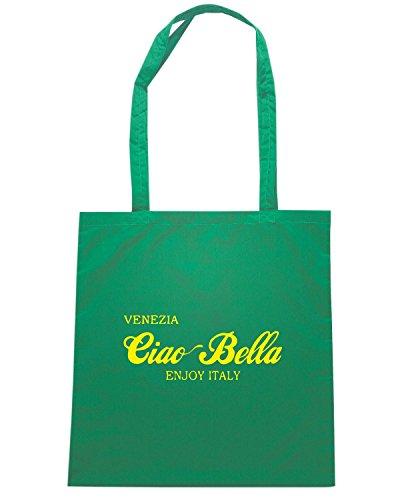 T-Shirtshock - Borsa Shopping OLDENG00829 ciao bella venezia blue Verde