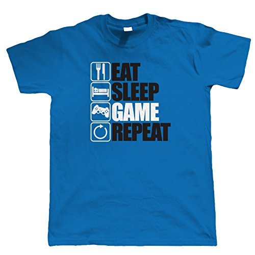 Eat Sleep Game Repeat, Mens Gaming T Shirt