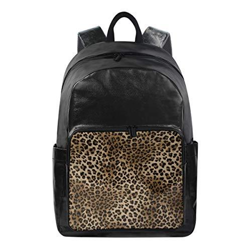 CPYang Mochila de Piel de Leopardo con Estampado de Animales, Mochila Informal para la Escuela, Mochila de Viaje para Mujeres y Hombres