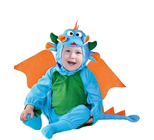 Drachen Märchen Kostüm (Baby Drache - Kostüm für Kinder Gr. 86-98,)