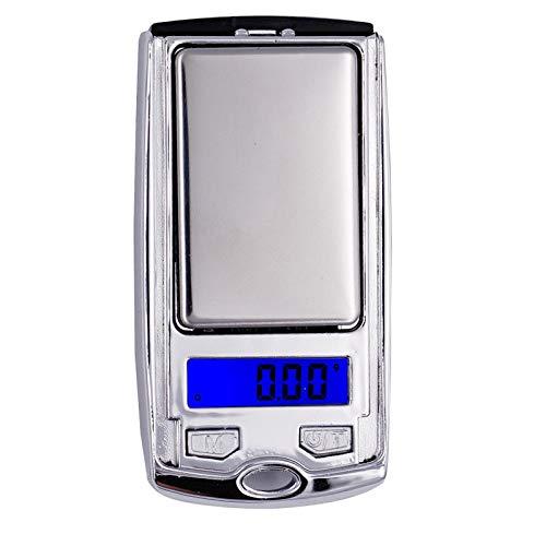 Ti-Zeta Mini Portatile Bilancia, Bilancia digitale di precisione, 0.01 g-500g, Display retroilluminato a LED, Bilancia tascabile digitale mini per gioielli da cucina, drogheria, tè, lievito, caffè