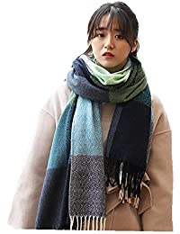 HR Cachemire laine Touch Scarf femmes gland fin plus doux chaud châle Wrap  couverture grille écharpe 0995314422e