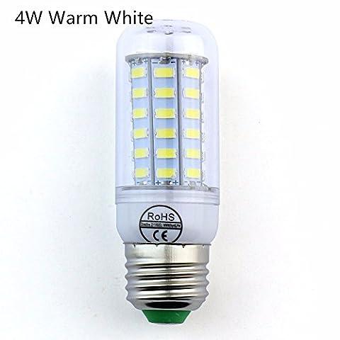 CS PRIORITY 1PCS SMD 5730 IC Lampada LED Lamp E27 220V 4W Corn Light LED Bulbs Chandelier Candle Luz 56 LEDs Warm White