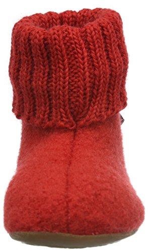 Haflinger Karlo, Chaussons mixte enfant Rouge - Rot (Rubin 11)
