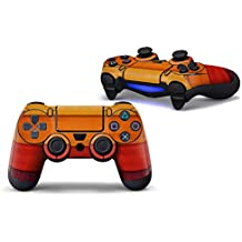 Morbuy PS4 Controller Skin Diseñador Piel Pegatina para Sony PlayStation 4 PS4 Slim PS4 Pro DualShock mando inalámbrico x 1 (Wood Orange-Red)