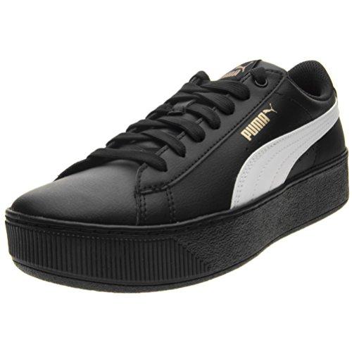 Puma Vikky Platform SL Femmes, Cuir Lisse, Sneaker High Black/White