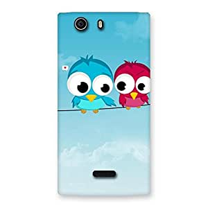 Birds on Wire Back Case Cover for Canvas Nitro 2 E311