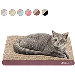AMZNOVA rascadores de Gato para cama y sofá almohadillas rascadores para gatos de carton reciclado corrugado gato rascando salón