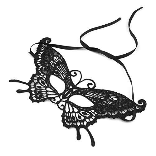 �cke Sexy Frauen Schmetterling Party Gesicht Make-Up Maske Spitze Stil Maskerade Maske Kostüm Party Sexy Dekoration (schwarz) ()