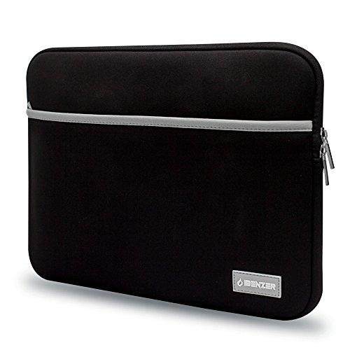 ibenzer-premium protettiva in neoprene Laptop Sleeve Borsa Custodia Con Tasca per accessori nero Black 11 Inches
