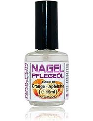 NAILFUN Nagelhautpflege-Öl Orange 15ml in der Glas-Pinselflasche - Nagelöl Apfelsine