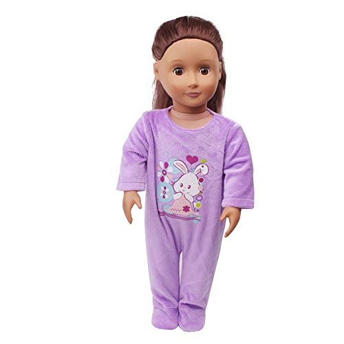 Mono Ropa de Pijama Impresión de Moda para 43cm 18 Pulgadas Nuestra generación Muñeca Americana Chica Gusspower