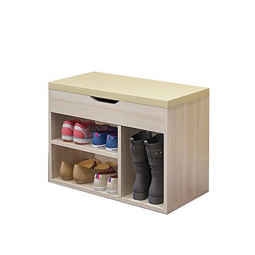 Zr- scarpiera salvadanaio/salvaspazio - panchina per scarpe/può sedersi panca per scarpe multiuso - polvere - decorazione murale (dimensioni : beige-60cm-b)